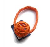 Vollgummi-Gitterball (Durchmesser 7 cm) - mit Band