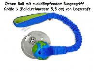 Orbee-Ball mit ruckdämpfendem Bungeegriff - Größe S (Balldurchmesser 5,5 cm) - von Dogscraft