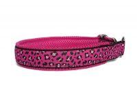 Zugstopp Pink Leo - individuell verstellbar - Halsumfang bis 43,5  cm - Breite ca. 3,3 cm incl. Airmesh-Unterfütterung
