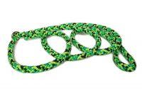 Agilityleine aus PPM-Seil zum Überziehen (mit Stopper) - Gesamtlänge ca. 1,70 m - Farbe: Gecko