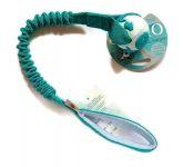 Orbee-Ball in petrol-weiss mit ruckdämpfendem Bungeegriff - Größe S (Balldurchmesser 5,5 cm) von Dogscraft