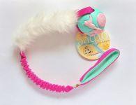Orbee-Ball (Puppy Special Edition) in mint-rosa mit Fell und ruckdämpfendem Bungeegriff - Größe M (Balldurchmesser 7,5 cm) von Dogscraft
