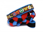 Agility-Zergelleine zum Überziehen - Superhero blau-rot - Halsung bis 44 cm