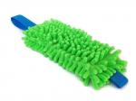 Mopp-Zergel apfelgrün mit blauem Gurtbandgriff - Länge Moppteil ca. 21 cm - Grifflänge ca. 13 cm - eignet sich auch zum Anbringen an jede Leine