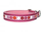 Zugstopp Glücksklee rosa - individuell verstellbar - Halsumfang bis 41,5 cm