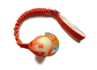 Orbeeball (Planet Basic) Glow in the Dark (leuchtet bei Dunkelheit)  - Größe M (Balldurchmesser 7,5 cm) - mit ruckdämpfendem Bungeegriff von Dogscraft