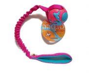 Orbeeball (Planet Basic) pink-blau - Größe M (Balldurchmesser 7,5 cm) - mit ruckdämpfendem Bungeegriff von Dogscraft
