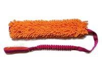 Mopik long orange-pink ohne Quietschi mit ruckdämpfendem Bungeegriff von Dogscraft - Länge Moppteil ca. 40 cm - Länge insgesamt ca. 1,08 m