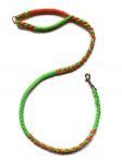 Hollandleine - teilgeflochten - Länge 1,20 m - apfelgrün-orange