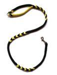 Hollandleine - teilgeflochten - Länge 1,20 m - schwarz-gelb