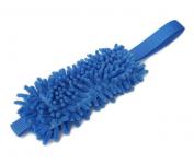 Mopp-Zergel meerblau mit blauem Gurtbandgriff - Länge Moppteil ca. 20 cm - Grifflänge ca. 16 cm - eignet sich auch zum Anbringen an jede Leine