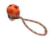 Wabenball orange mit Band (PPM-Seil) - Balldurchmesser 7 cm